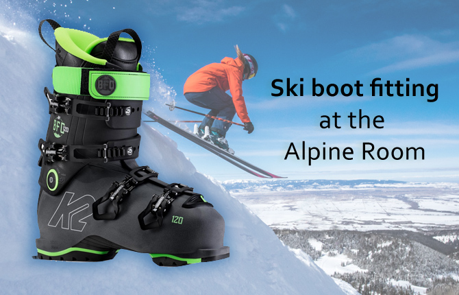 Ski Boot Fitting at the Alpine Room