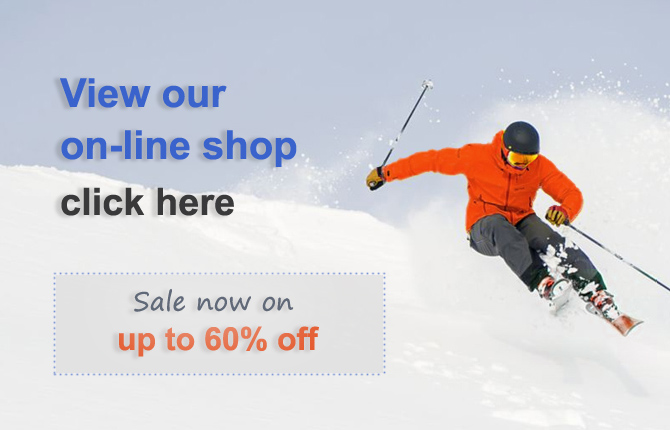 Go to our on-line web ski and snowsports shop